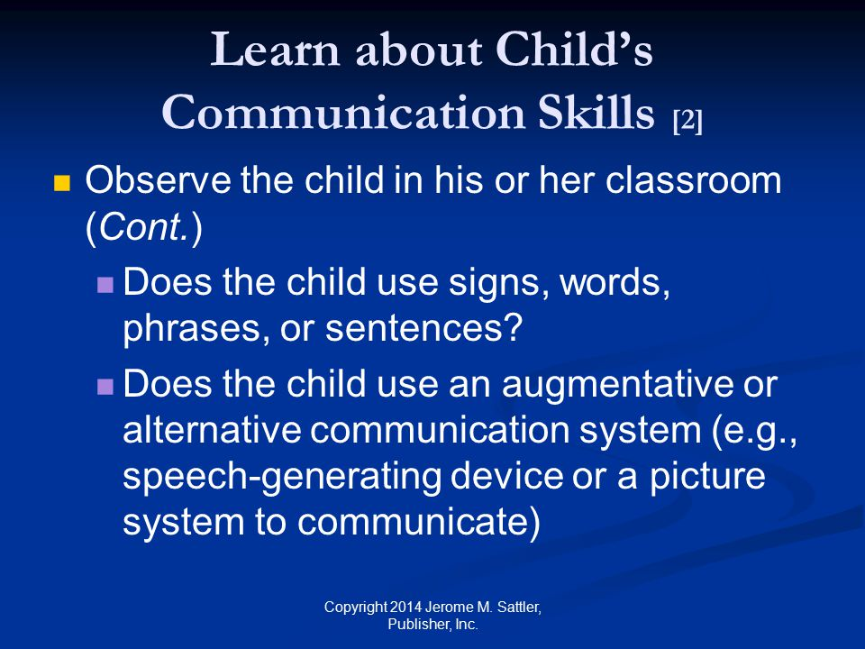 Learn about Child's Communication Skills [2]